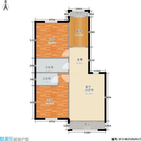 天通苑西一区2室0厅2卫1厨132.00㎡户型图