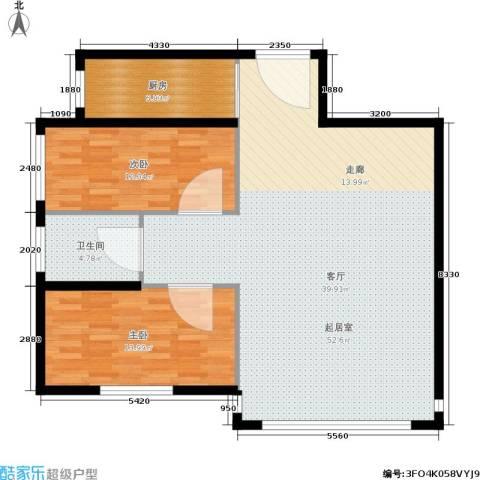 天通苑西一区2室0厅1卫1厨99.00㎡户型图