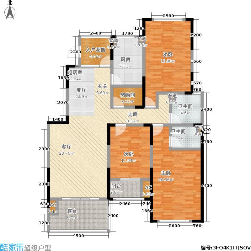 理想山152.00㎡E10-3F户型3室2厅