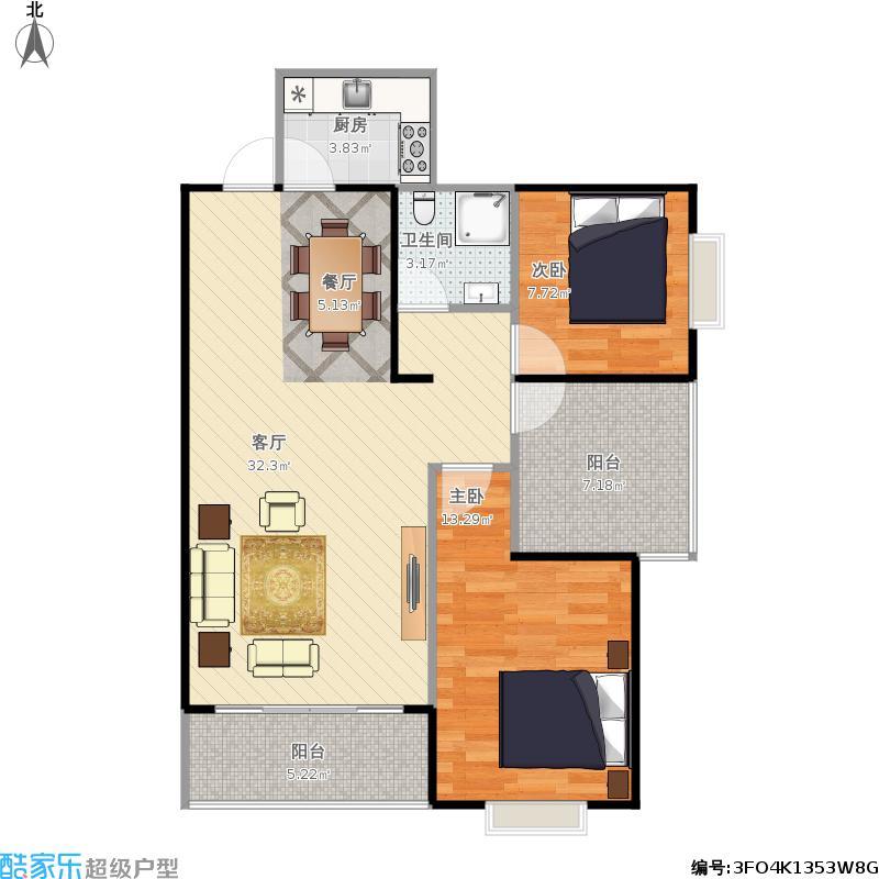 90平两室一厅一卫
