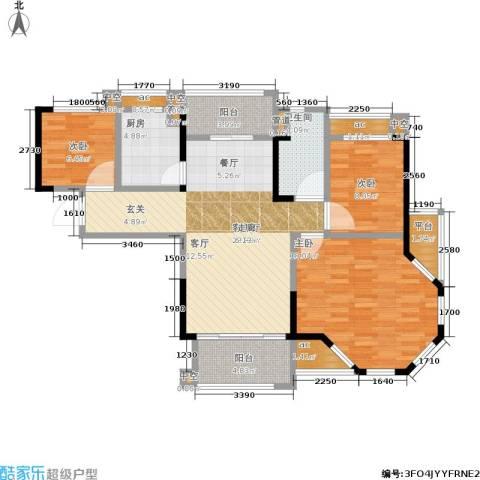 碧桂园欧洲城3室1厅1卫1厨95.00㎡户型图