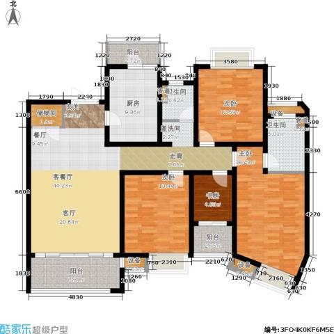 日月光伯爵天地4室1厅2卫1厨144.00㎡户型图
