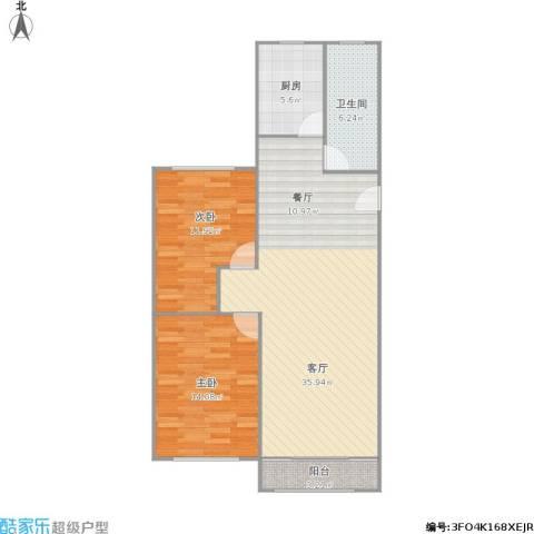昌里众盛苑2室1厅1卫1厨102.00㎡户型图