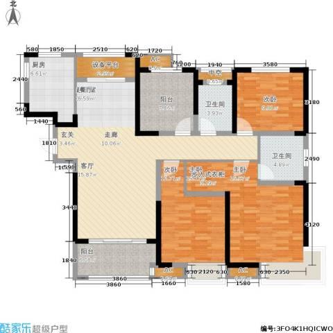 高速时代城3室0厅2卫1厨131.00㎡户型图