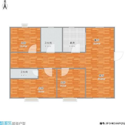 丽都・时代家园3室1厅2卫1厨163.00㎡户型图