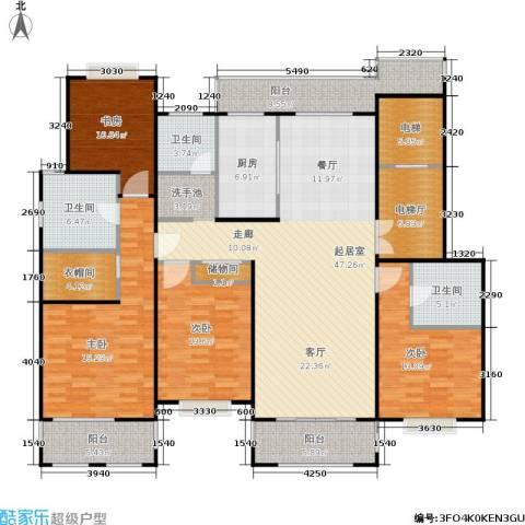 锦绣逸庭4室0厅3卫1厨176.00㎡户型图