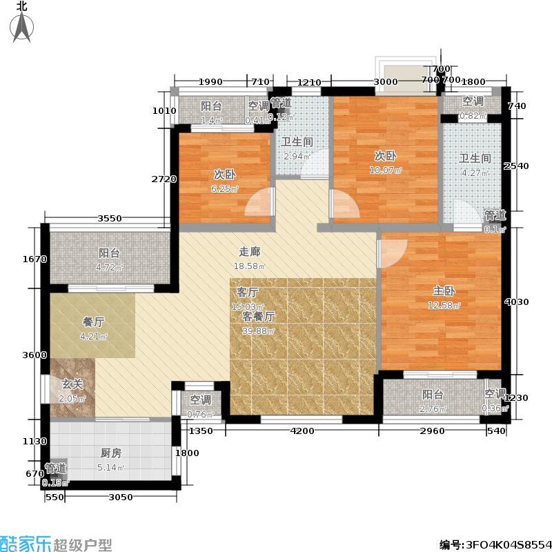 橡树湾130.00㎡G2号楼C(售罄面积13000m户型