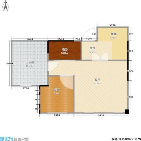 蓝堡公馆1室1厅1卫0厨160.00㎡户型图