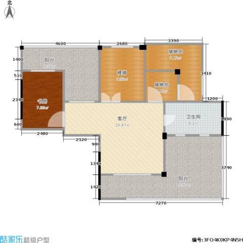 蓝堡公馆1室1厅1卫0厨170.00㎡户型图