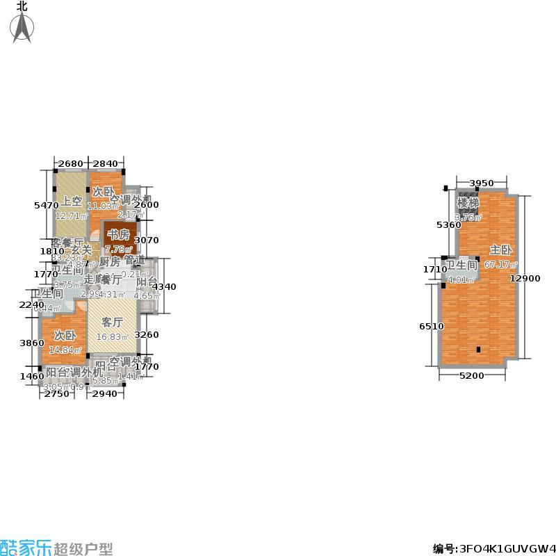 绿城蓝湾小镇123.00㎡蝶兰轩法式电梯洋房-H2上跃户型