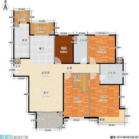 西康路9894室0厅2卫1厨168.00㎡户型图