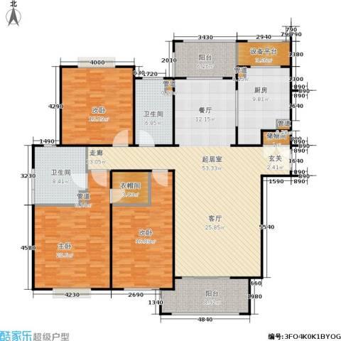 西康路9893室0厅2卫1厨167.00㎡户型图