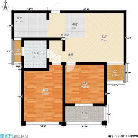 水岸豪庭东苑2室0厅1卫0厨114.00㎡户型图