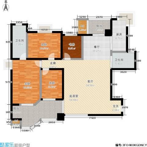 绿中海明苑4室0厅2卫1厨163.00㎡户型图