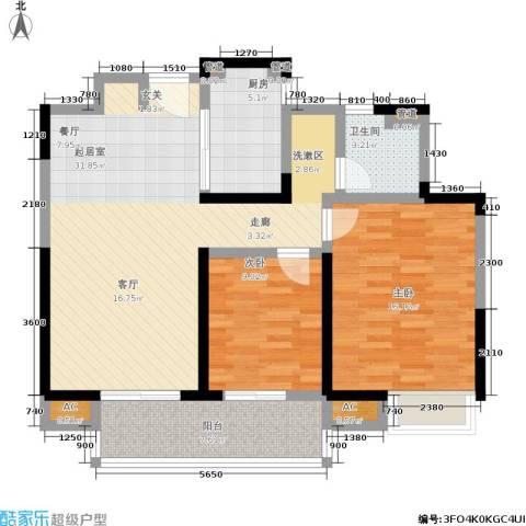 联美品悦2室0厅1卫1厨86.00㎡户型图