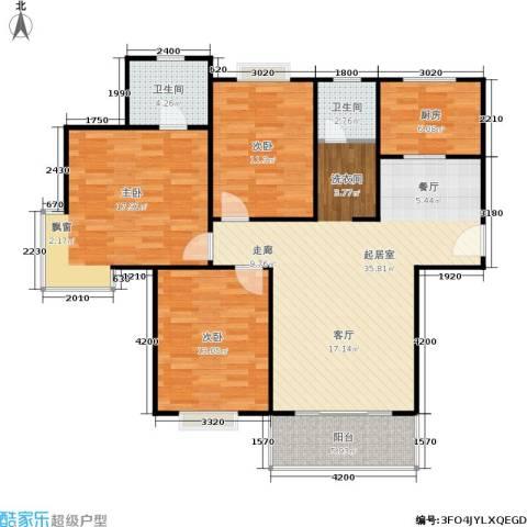 广厦水岸东方3室0厅2卫1厨118.00㎡户型图