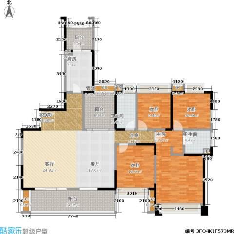 九方城4室1厅2卫1厨182.00㎡户型图