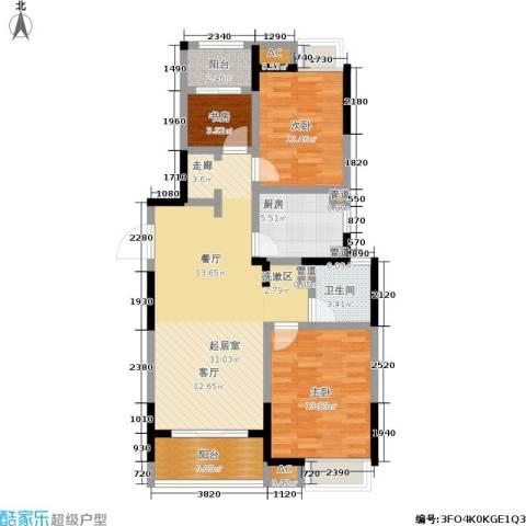 联美品悦3室0厅1卫1厨90.00㎡户型图