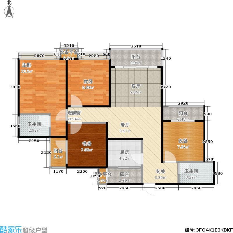 锦绣山河低碳智慧新城108.00㎡锦绣山河・低碳智慧新城G4-A1户型