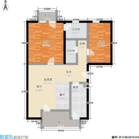 安亭新镇德绍豪斯2室0厅2卫1厨125.00㎡户型图