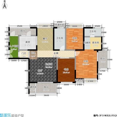 海峡国际社区3室0厅2卫1厨171.00㎡户型图