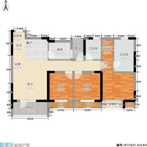 联投半岛3室0厅2卫1厨118.00㎡户型图