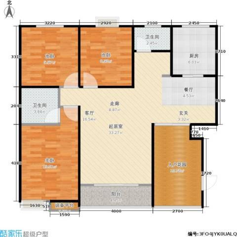 曦华佳苑3室0厅2卫1厨113.00㎡户型图