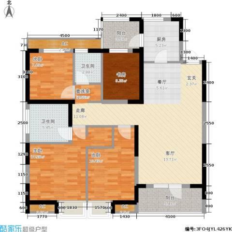 联投半岛4室0厅2卫1厨134.00㎡户型图