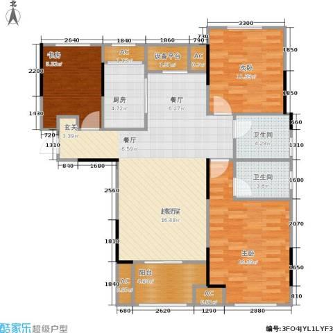 朗诗里程3室0厅2卫1厨108.00㎡户型图