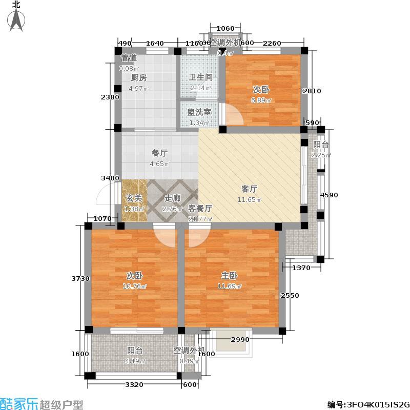 兰亭雅苑87.00㎡三期13号楼3-6层面积8700m户型