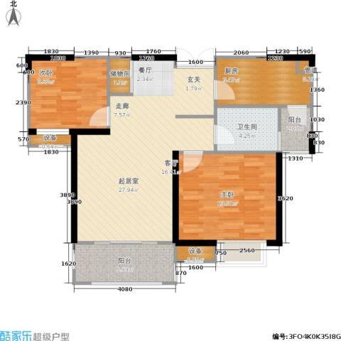 苏宁荣悦2室0厅1卫1厨80.00㎡户型图