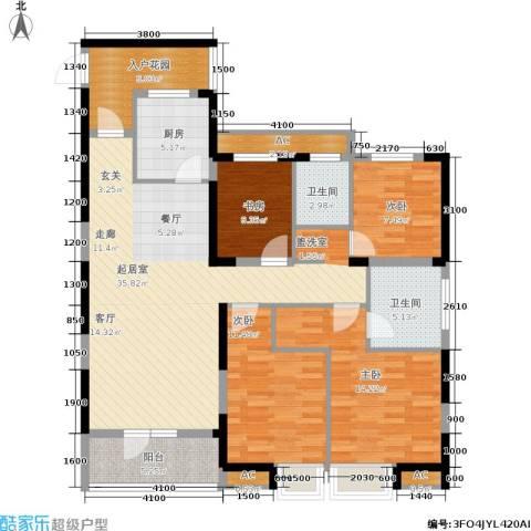 联投半岛4室0厅2卫1厨137.00㎡户型图