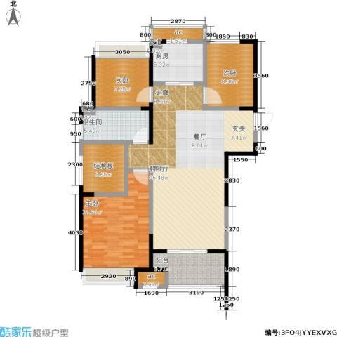 天正理想城3室1厅1卫1厨105.00㎡户型图