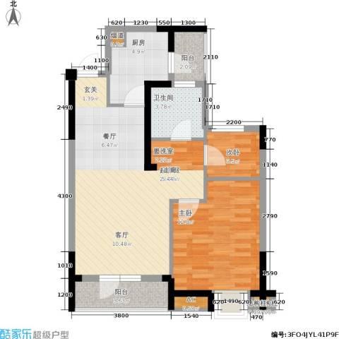 联投半岛2室0厅1卫1厨80.00㎡户型图