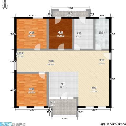 安亭新镇德绍豪斯3室0厅1卫1厨148.00㎡户型图