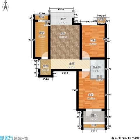 肯彤国际2室1厅1卫1厨86.00㎡户型图