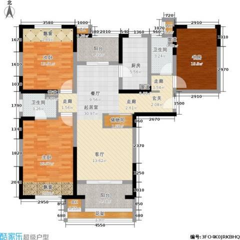 天居玲珑湾3室0厅2卫1厨119.00㎡户型图