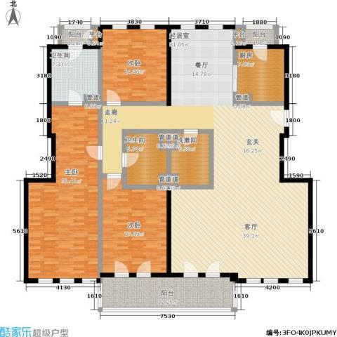 安亭新镇德绍豪斯3室0厅2卫1厨212.00㎡户型图