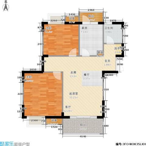 苏宁荣悦2室0厅1卫1厨89.00㎡户型图