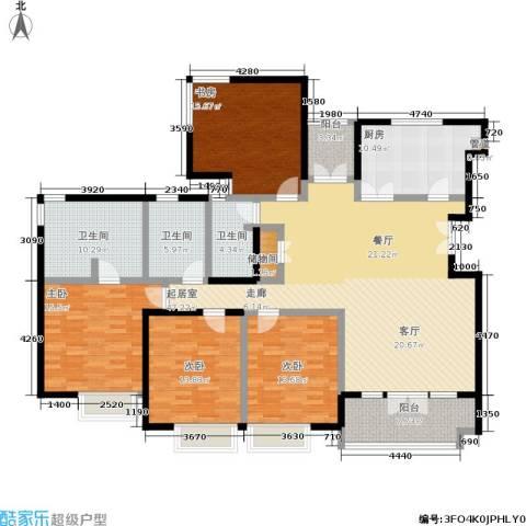 安亭新镇德绍豪斯4室0厅3卫1厨193.00㎡户型图