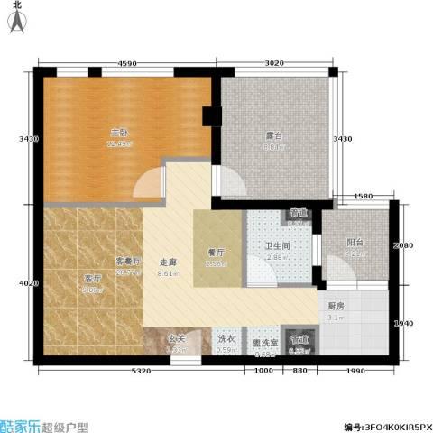 铂金公馆1室1厅1卫0厨63.00㎡户型图