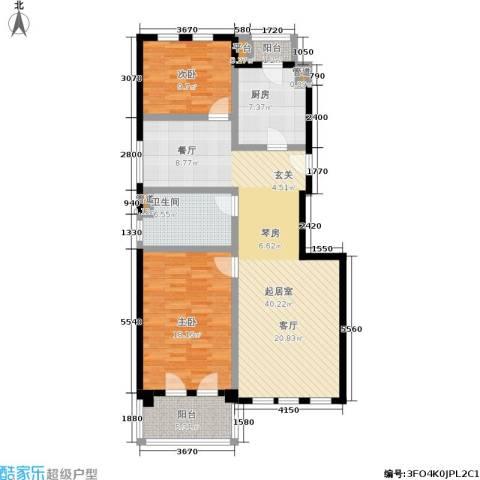 安亭新镇德绍豪斯2室0厅1卫1厨103.00㎡户型图