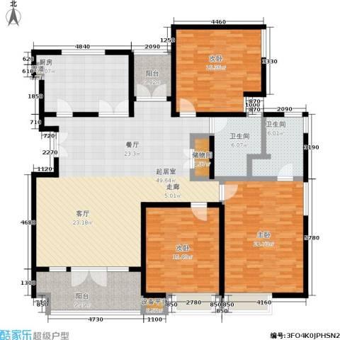 安亭新镇德绍豪斯3室0厅2卫1厨163.00㎡户型图