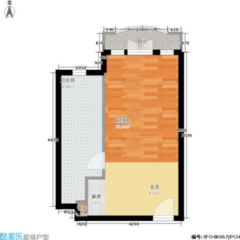汤INN酒店式公寓1卫0厨43.00㎡户型图