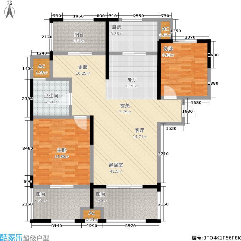 昆山颐景园113.00㎡一期高层C1户型