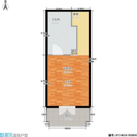 汤INN酒店式公寓1卫0厨84.00㎡户型图