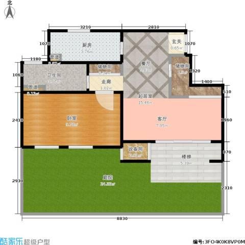 乾耀东港1卫1厨66.00㎡户型图