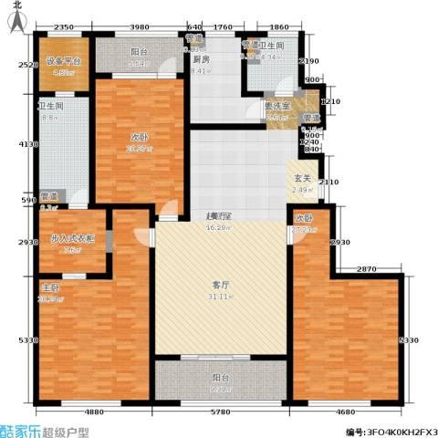 浦江华侨城3室0厅2卫1厨178.07㎡户型图