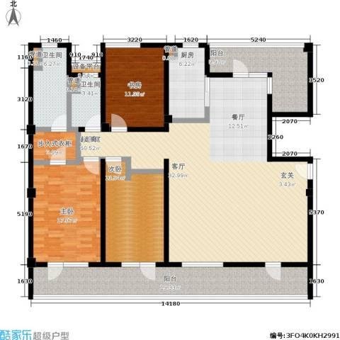 浦江华侨城3室0厅2卫1厨175.00㎡户型图