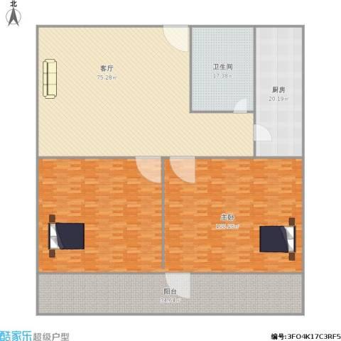 建设路园丁小区1室1厅1卫1厨322.00㎡户型图